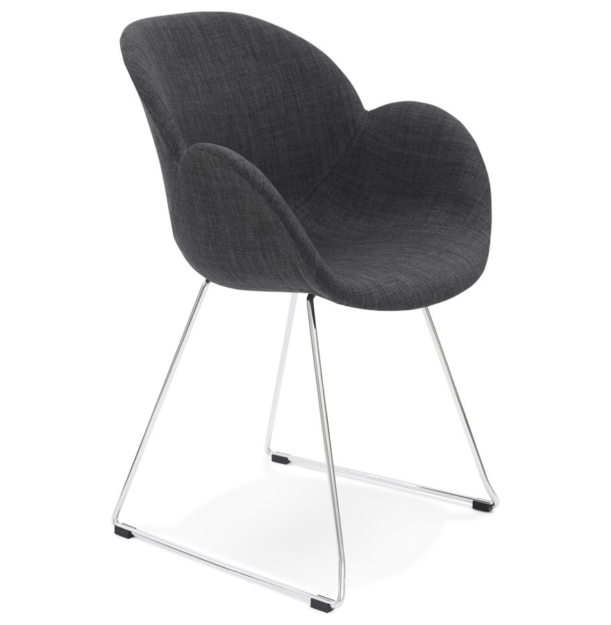 chaise design jumbo grise fonc e chaise traineau en tissu. Black Bedroom Furniture Sets. Home Design Ideas