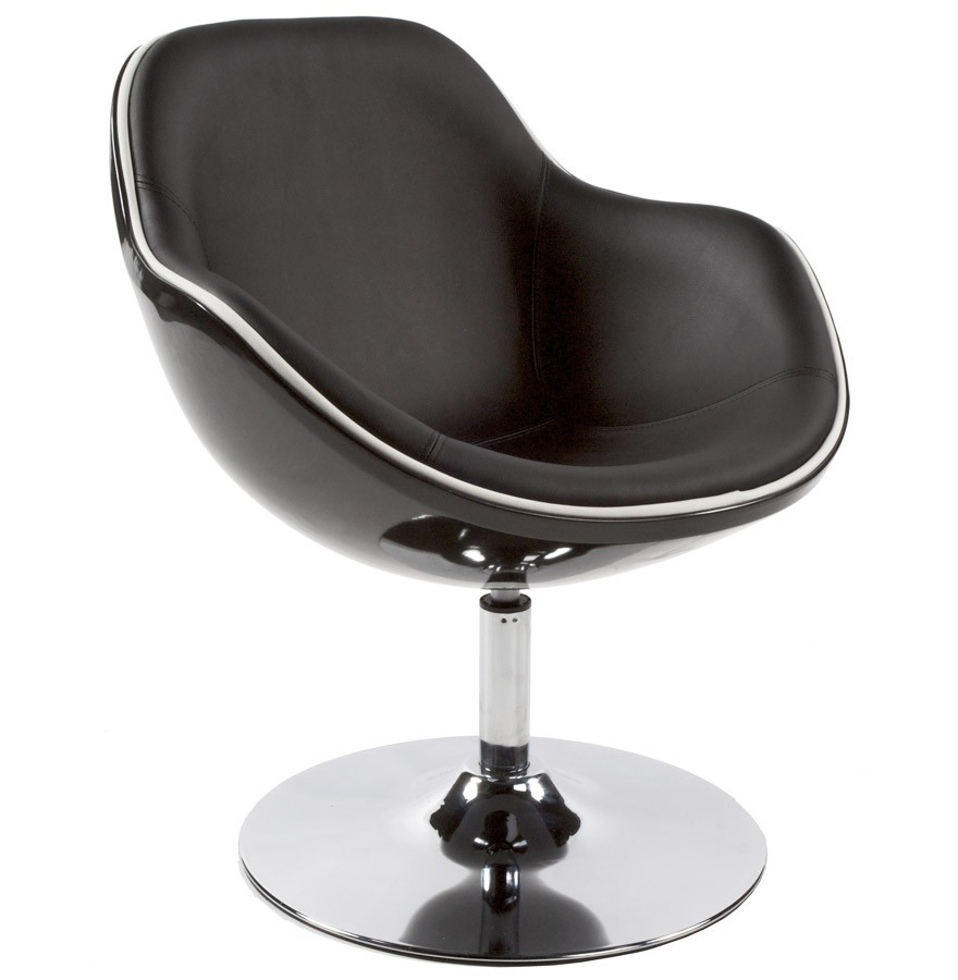 fauteuil design kok pivotant noir fauteuil style retro. Black Bedroom Furniture Sets. Home Design Ideas