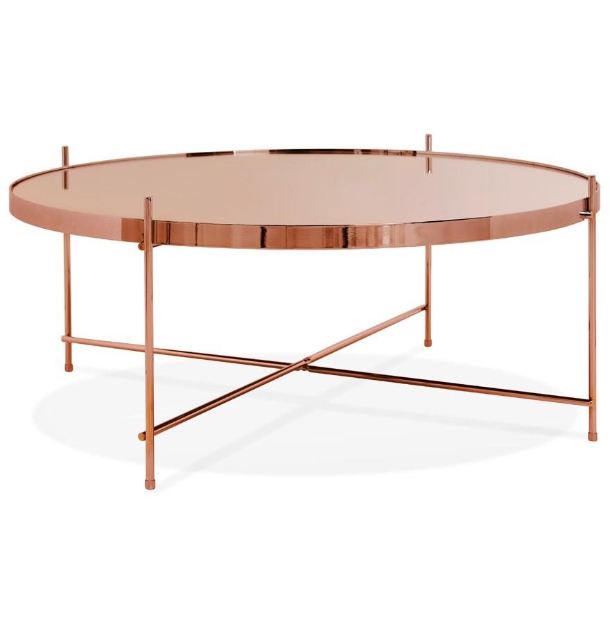 table de salon kolos big couleur cuivre table basse design. Black Bedroom Furniture Sets. Home Design Ideas