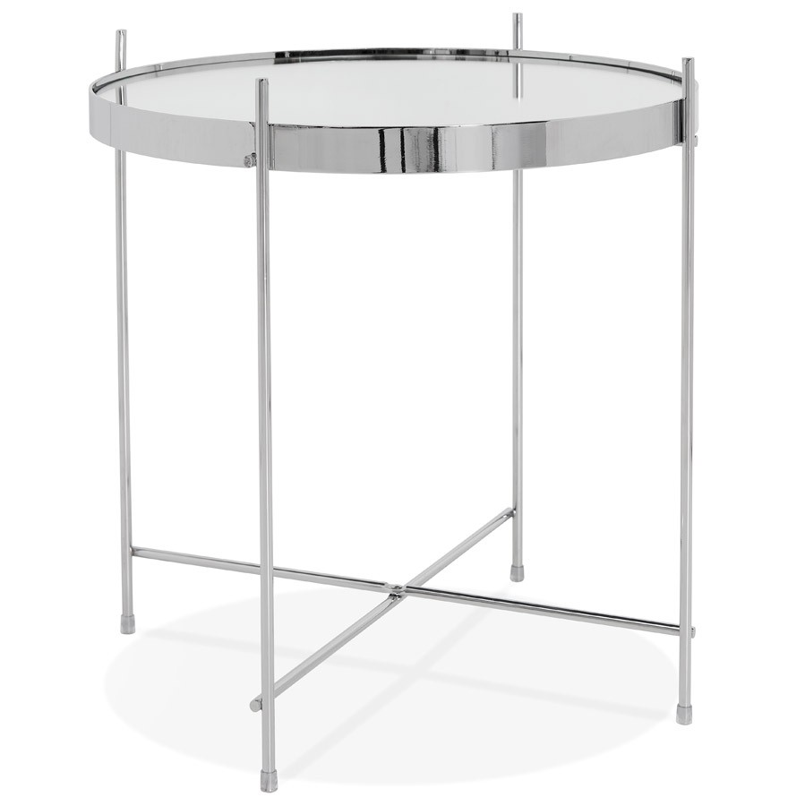 Table D Appoint Pliable Kolos Couleur Chrome Table Design