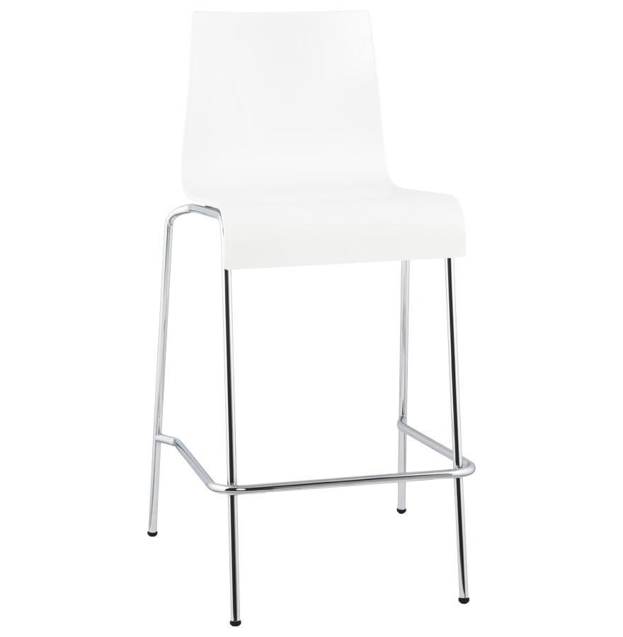tabouret de cuisine kwatro mini design en bois blanc. Black Bedroom Furniture Sets. Home Design Ideas