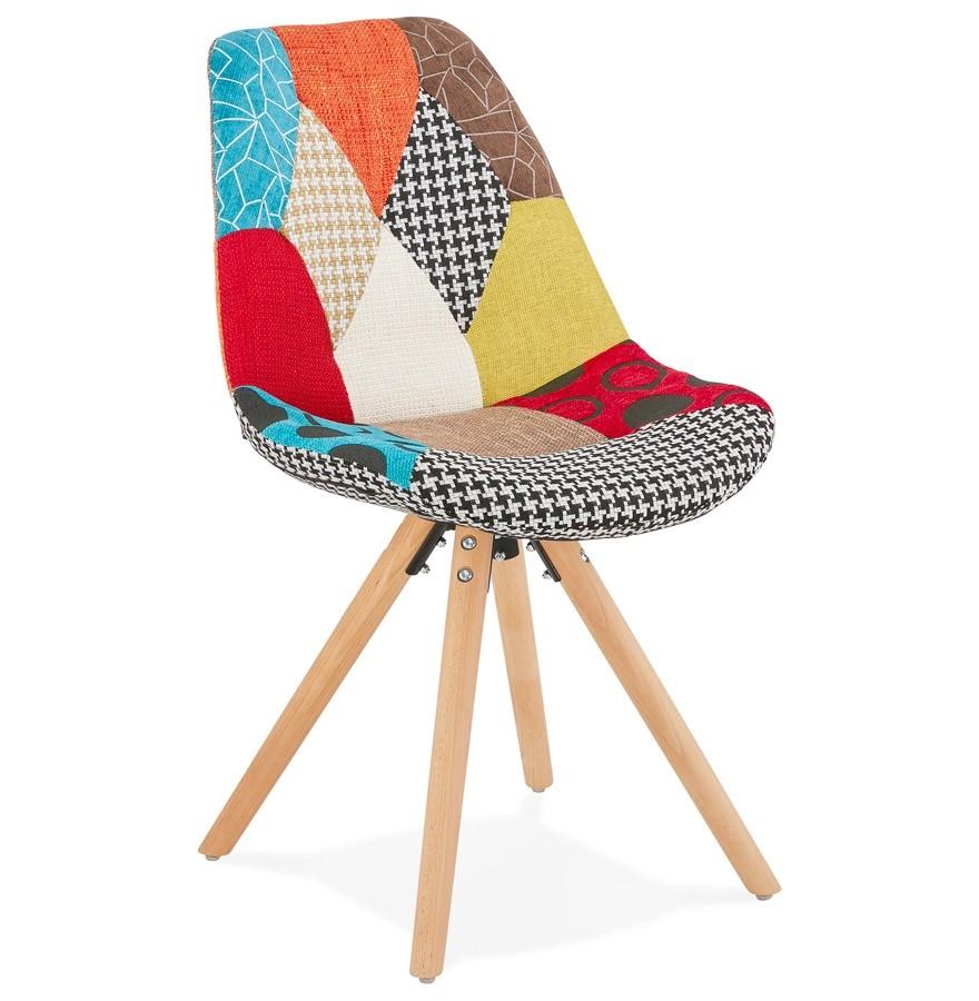 Chaise Design Lucy En Tissu Style Patchwork