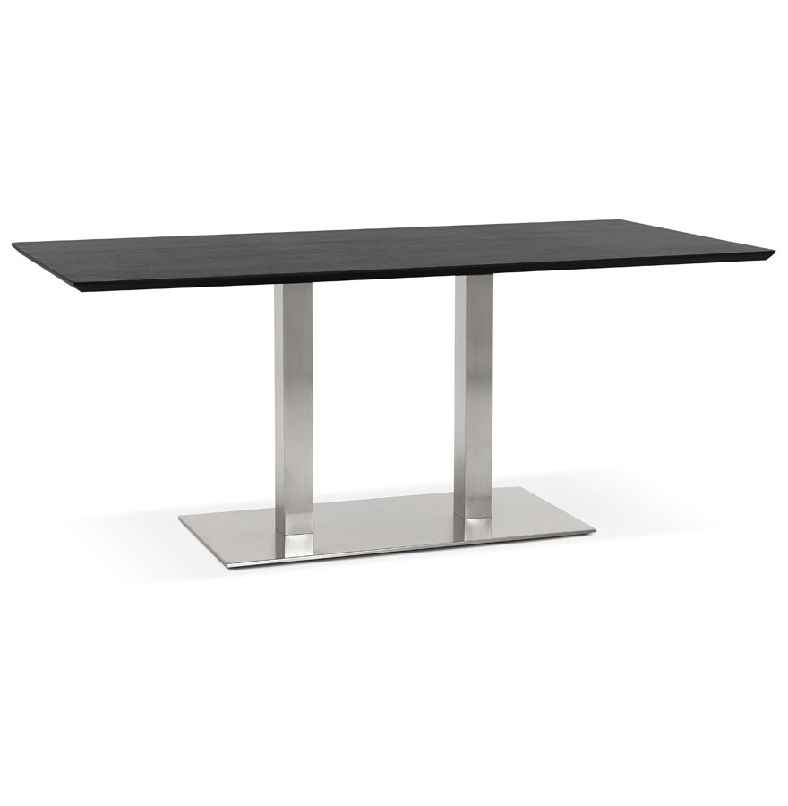Table de r union mambo noir 180x90 cm bureau design for Table bureau design