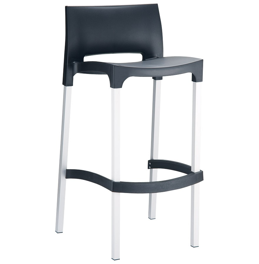 tabouret de bar maty noir pour ext rieur et int rieur. Black Bedroom Furniture Sets. Home Design Ideas