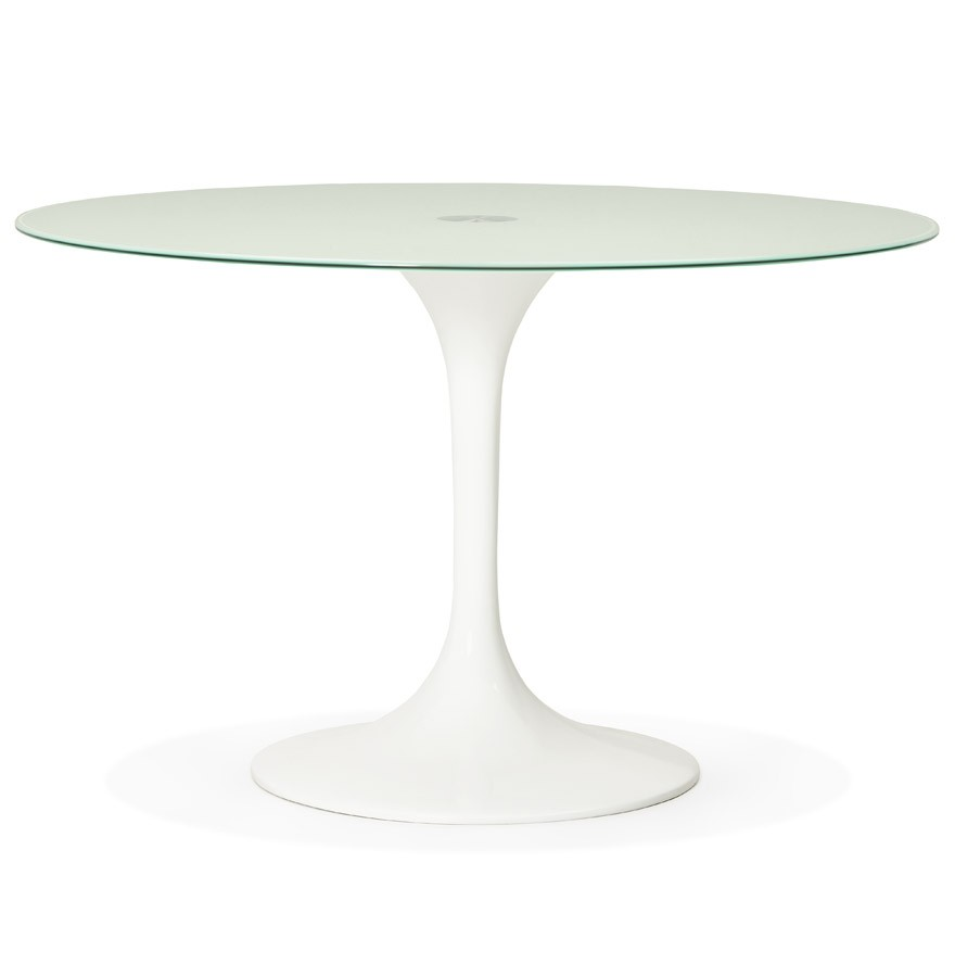 Table d ner design ronde alexia blanche table design - Table ronde design blanche ...