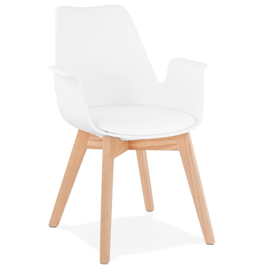 Chaise avec accoudoirs MISTRAL blanche Chaise scandinave