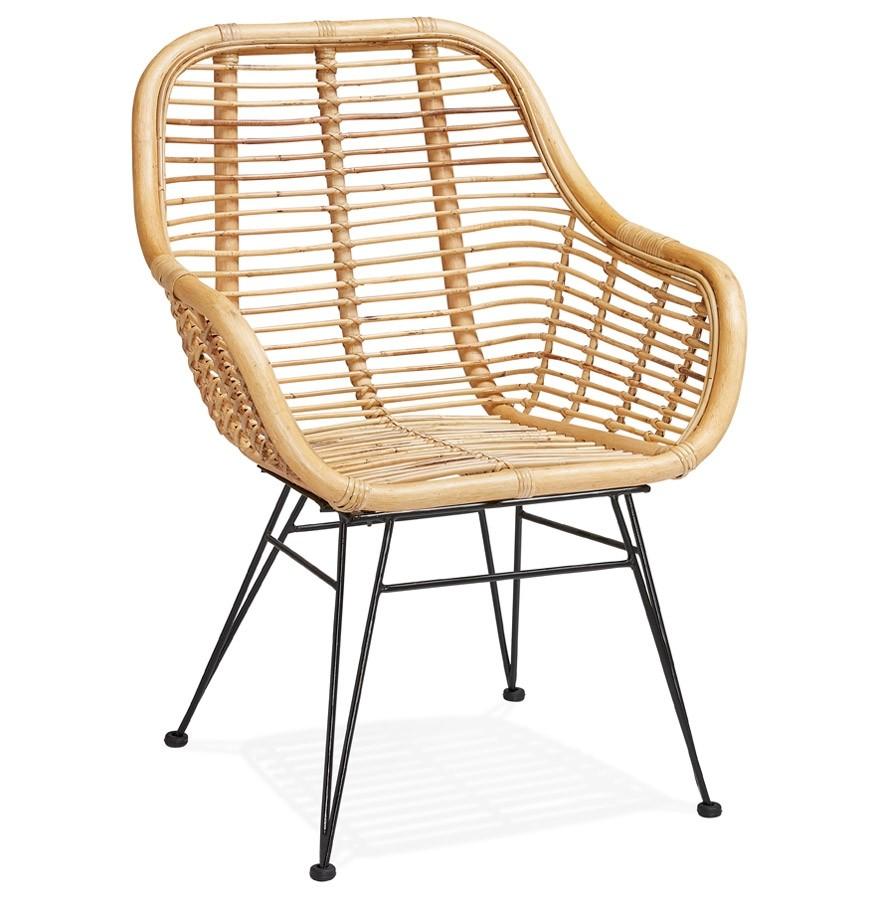 Chaise en rotin moskito chaise design avec acoudoirs Chaise rotin