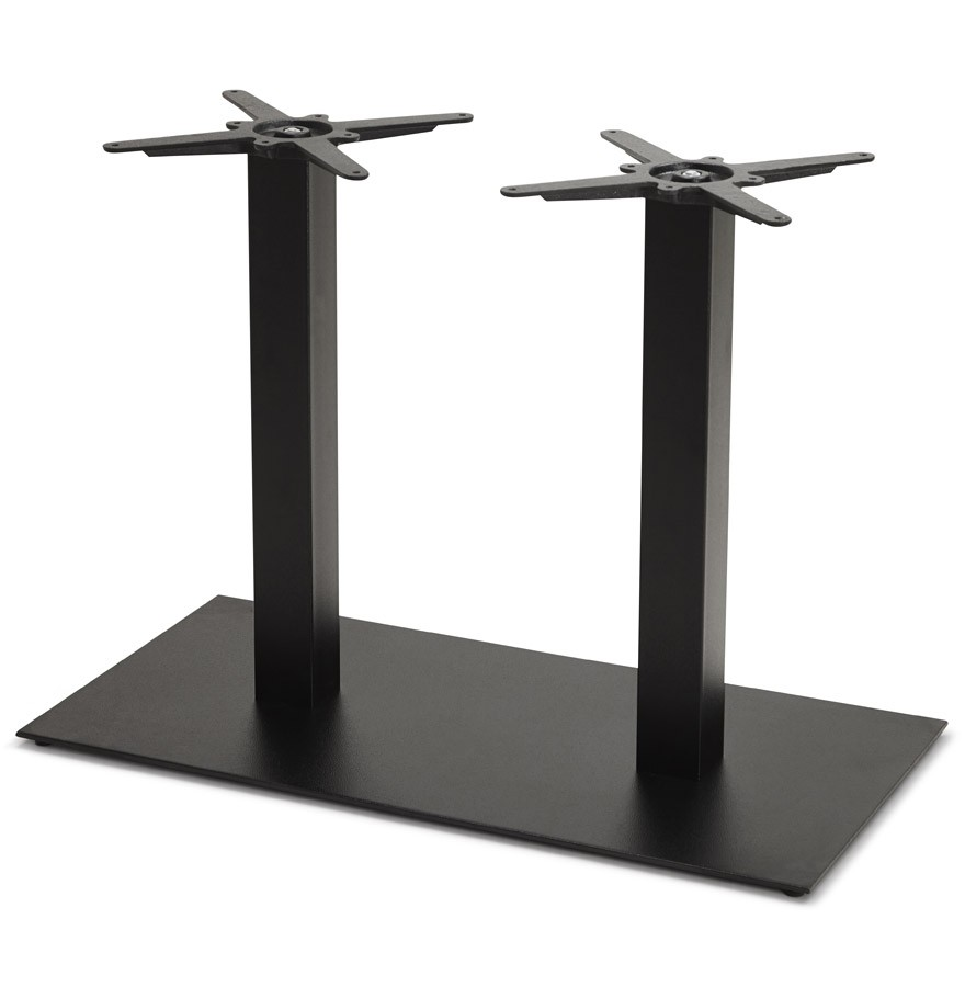Pied De Table Nero Double 75 En Metal Noir