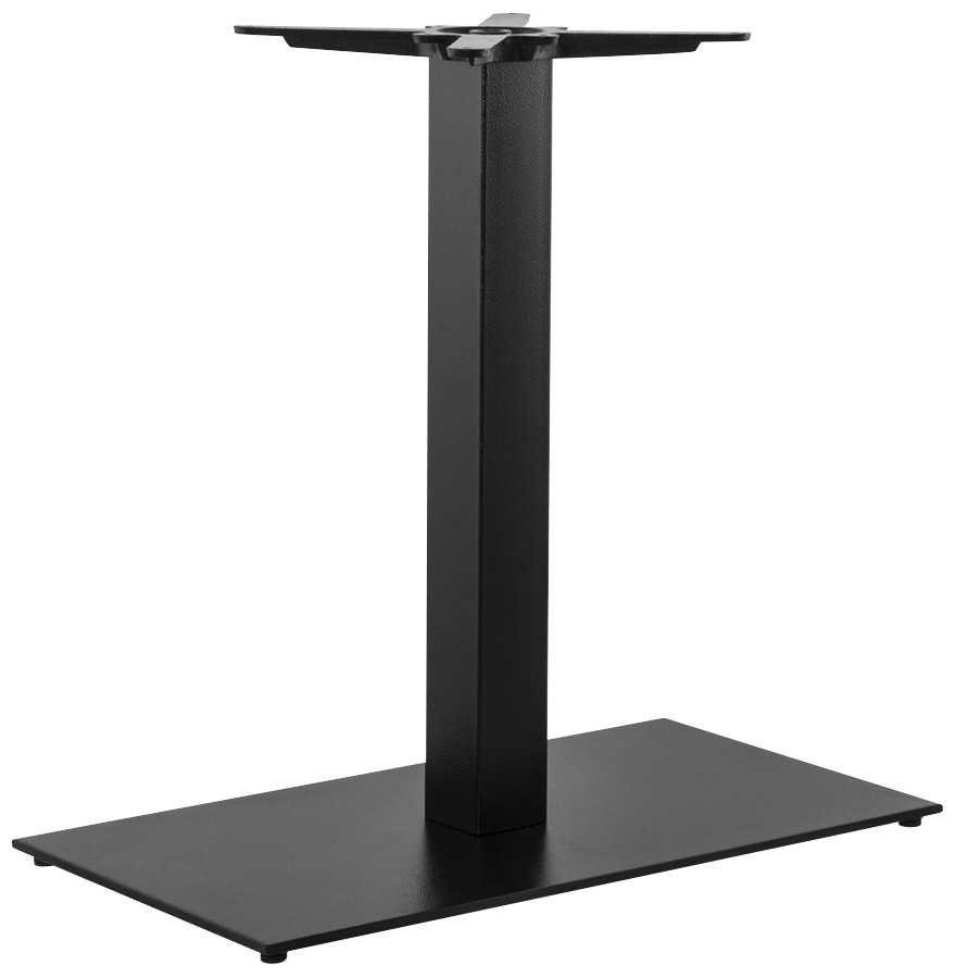 Pied De Table Nero Xl 75 Noir En Metal Alterego Design