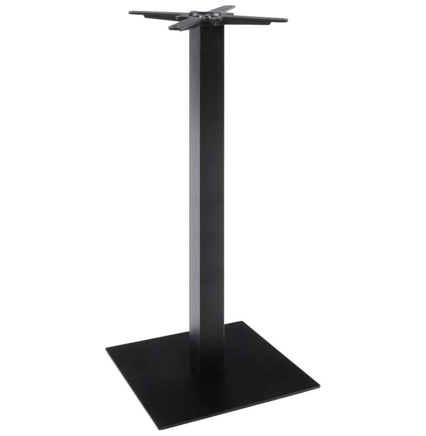 Pied de table nero 110 pour table haute en m tal peint noir - Pieds de table en metal ...