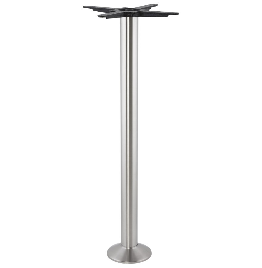 Pied De Table 110 Cm.Pied De Table Piket 110 Cm En Metal Brosse A Base Ronde