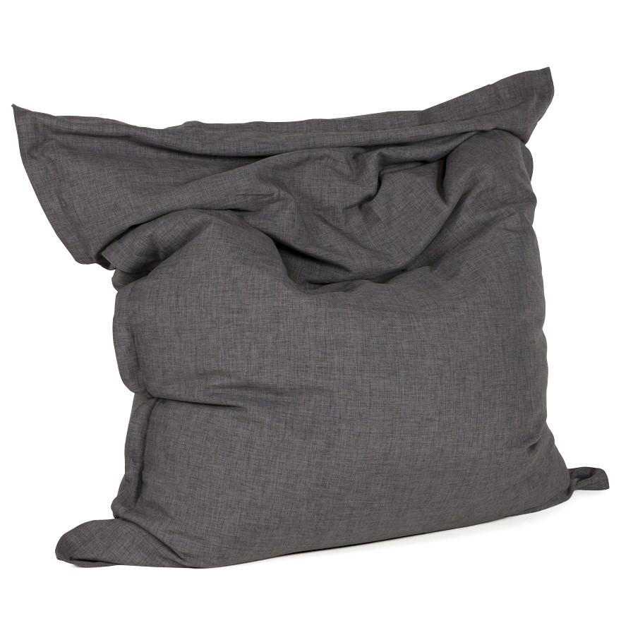 Pouf design pilo pouf g ant en tissu gris 135x175 cm - Rembourrage pour pouf ...