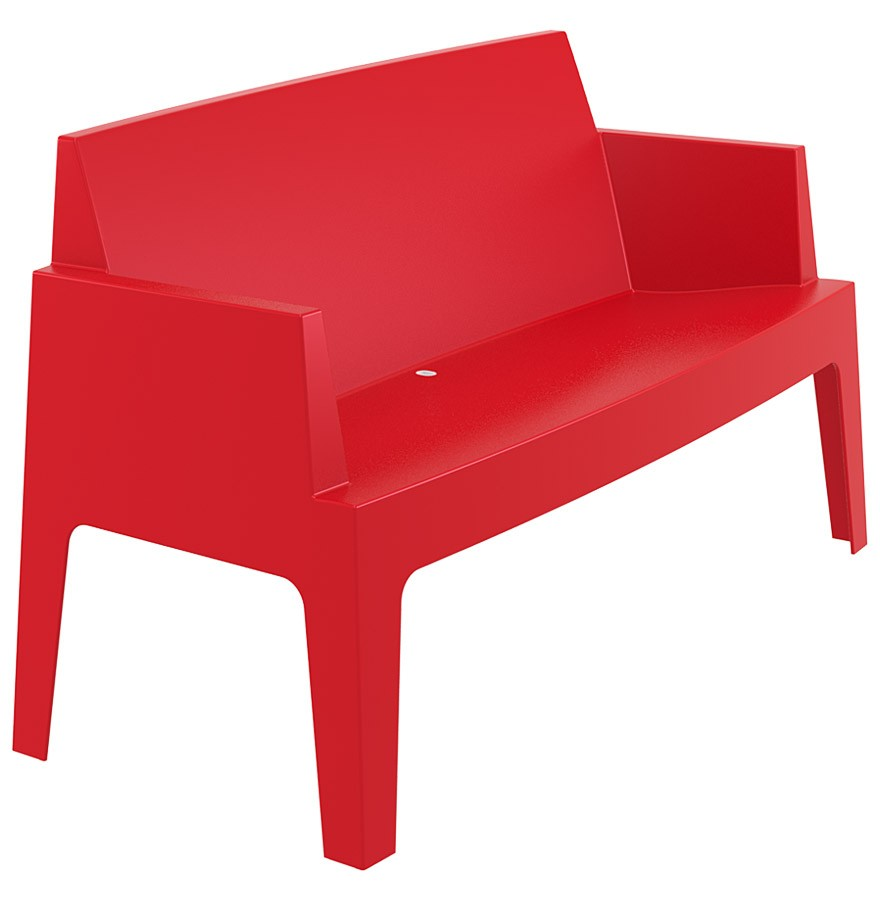 chaise design plemo xl banc de jardin rouge en mati re plastique. Black Bedroom Furniture Sets. Home Design Ideas