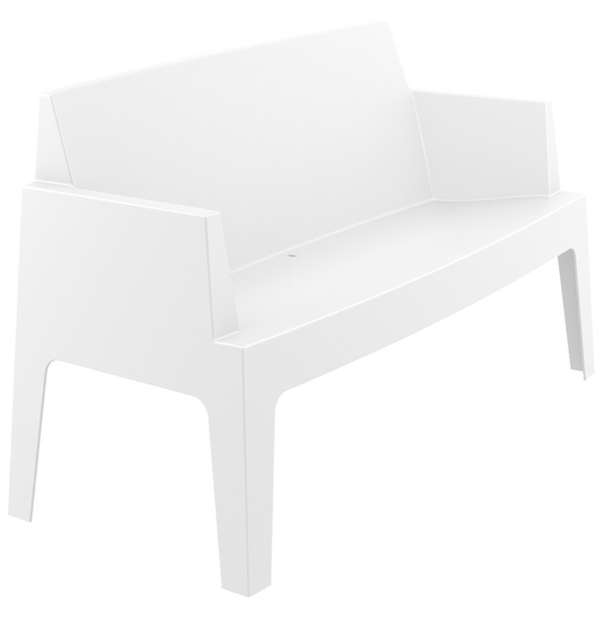 chaise design plemo xl banc de jardin blanc en mati re plastique. Black Bedroom Furniture Sets. Home Design Ideas