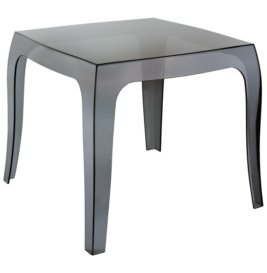 Table d 39 appoint retro noire transparente petite table design - Tables d appoint design ...