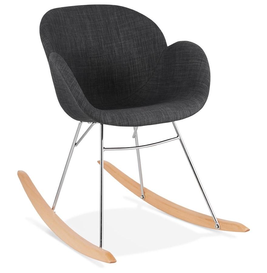 chaise bascule rocky grise en tissu rocking chair design. Black Bedroom Furniture Sets. Home Design Ideas