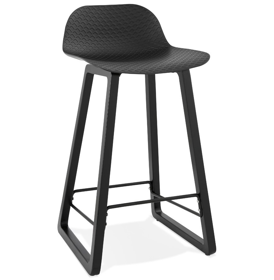 tabouret mi hauteur sashimi mini noir tabouret snack design. Black Bedroom Furniture Sets. Home Design Ideas
