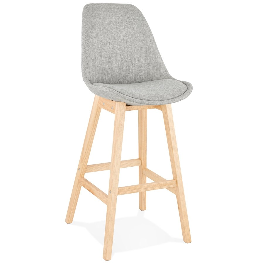 tabouret de bar teresa en tissu gris tabouret scandinave. Black Bedroom Furniture Sets. Home Design Ideas