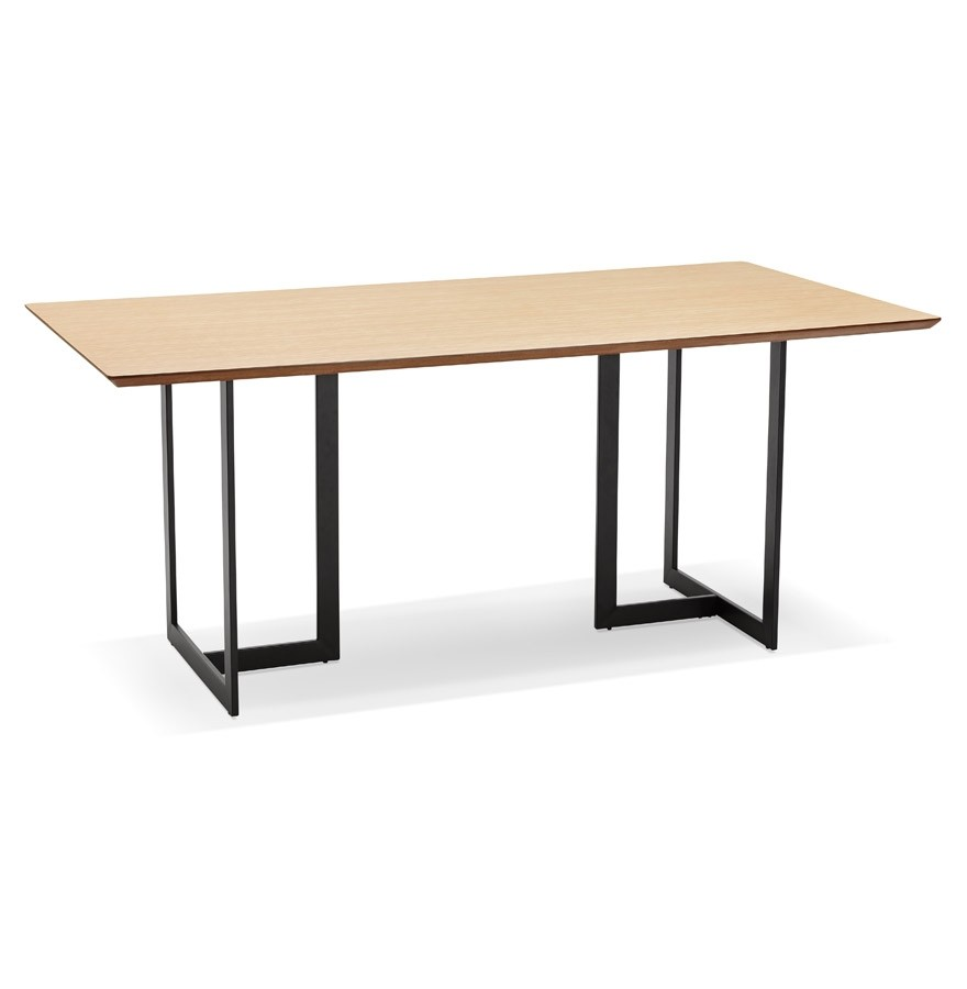 Table design titus en bois naturel bureau moderne 180x90 cm for Table bureau design