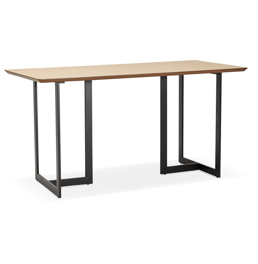 Table design titus en bois naturel bureau moderne 150x70 cm for Table bureau