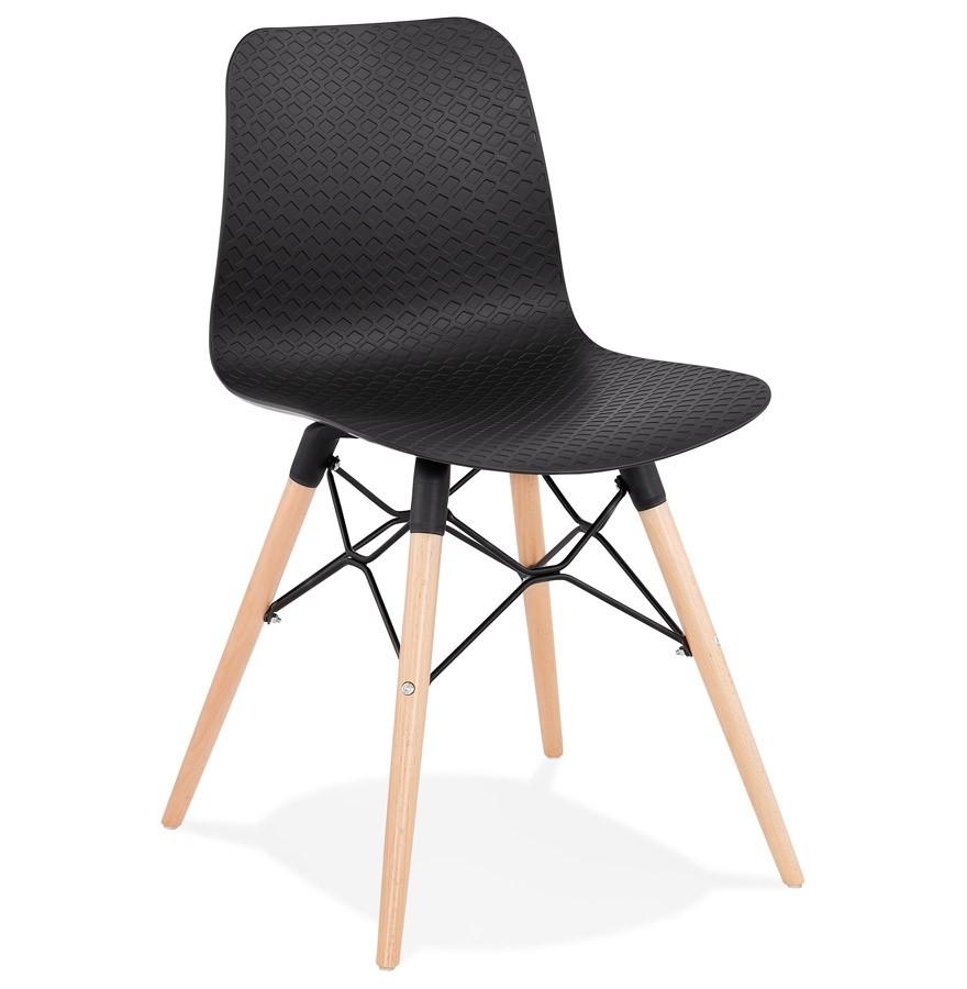 Chaise scandinave tonic noire chaise design for Chaise noire design