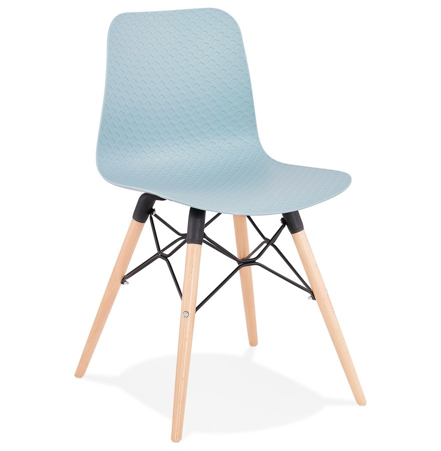Chaise scandinave TONIC bleue Chaise design