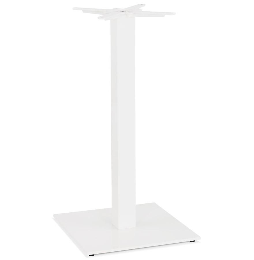 Pied De Table Carré Tower 110 En Métal Blanc Intérieurextérieur