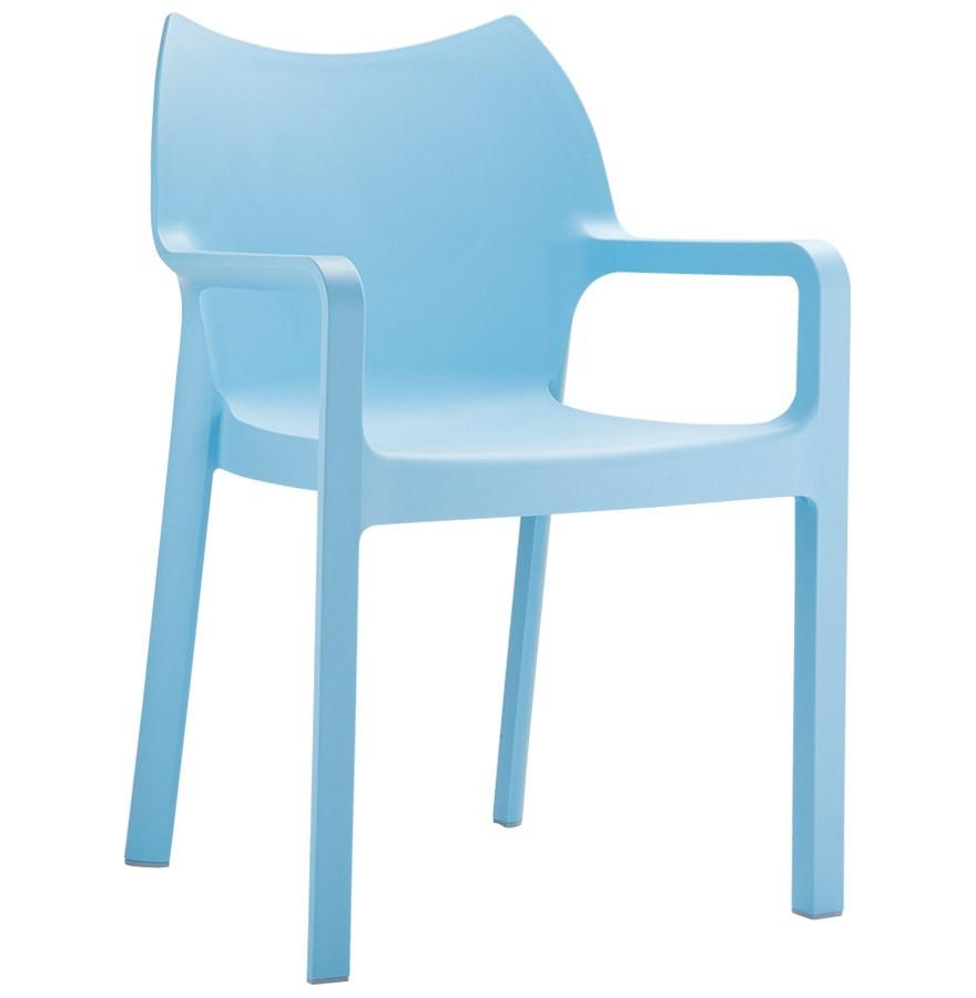 chaise design de terrasse viva bleue en matire plastique - Chaise Design Plastique