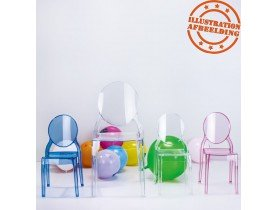 Chaise enfant 'KIDS' transparente en matière plastique