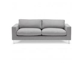 Canapé droit moderne 'AUGUSTIN' en tissu gris clair