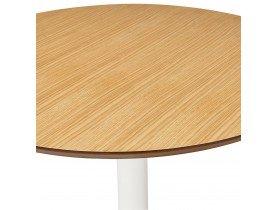 Petite table de bureau / à diner ronde 'BARABAR' en bois finition naturelle - Ø 90 cm