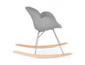 Chaise à bascule design 'BASKUL' grise en matière plastique