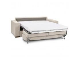 Canapé 3 places convertible en lit 'BELGO' en tissu beige