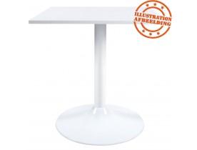 Pied de table 'BIANKO' 75 en métal blanc