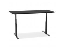 Bureau assis-debout électrique 'BIONIK'avec plateau en bois et métal noir - 180x90 cm