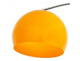 Lampadaire design en arc 'BIG BOW XL' abat-jour orange