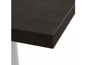 Plateau de table carré 'BRISTOL' en bois finition Wengé - 60x60 cm