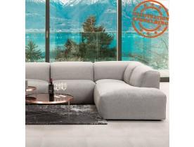 Canapé panoramique en U design 'CANYON U SHAPE' gris clair (angle à droite)