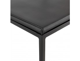 Tabouret de bar design 'CASA' noir style industriel empilable