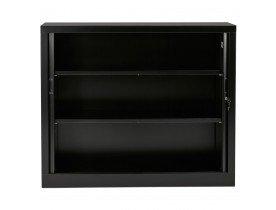 Armoire de bureau basse à rideaux 'CLASSIFY' noire - 100x120 cm