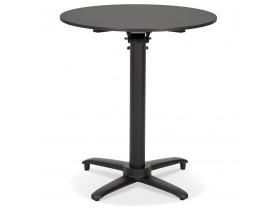 Table de terrasse pliable 'COMPAKT' ronde noire - Ø 68 cm