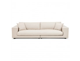 Grand canapé droit design 'DALTON XXL' en tissu beige