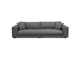 Grand canapé droit design 'DALTON XXL' en tissu gris foncé