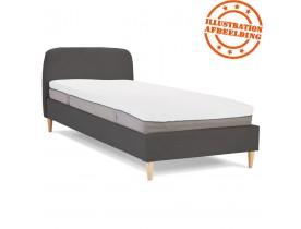 Lit 1 personne 'DREAM' avec revêtement en tissu gris anthracite - 90x200 cm