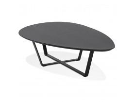 Table basse de salon design 'DROP' en bois noir