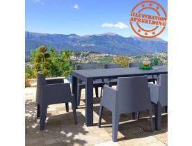 Table de jardin extensible 'ELASTIK LARGE' grise foncée - 260(300)x100 cm