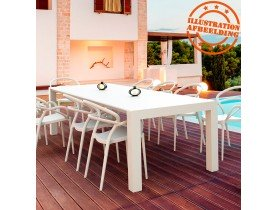 Table de jardin extensible 'ELASTIK LARGE' blanche - 260(300)x100 cm