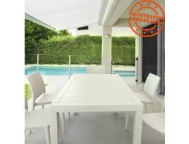 Table de jardin 'ENOTECA' design en matière plastique blanche - 140x80 cm