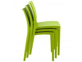 Chaise design 'ENZO' verte