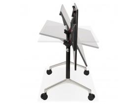 Bureau pliable 'FLEXO' noir sur roulettes - 140x70 cm